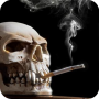 icon Smoking Skull Live Wallpaper