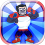 icon Pet Caring Boxing Gorilla