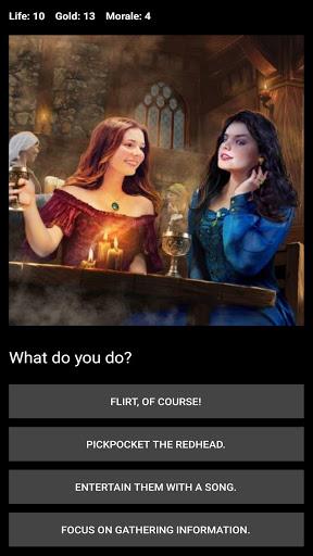 Середньовічна фантастична гра RPG (вибір гри)